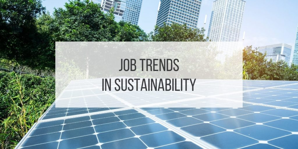 Go Green! Job Trends in Sustainability