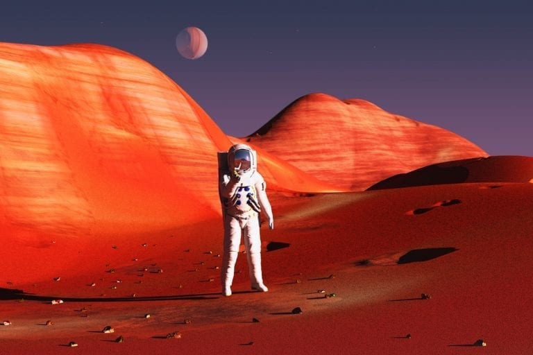 astronaut mars