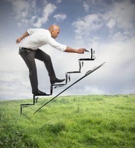 job search takes time like climbing a ladder