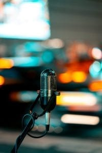 Tell your life story through a microphone for everyone to hear