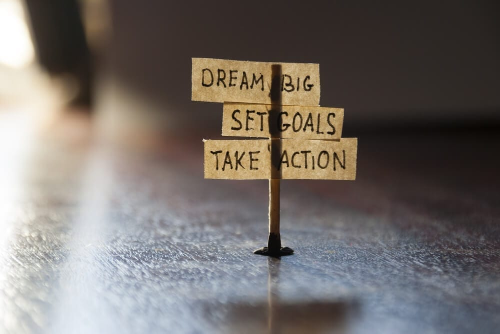 Dream big set goals take action in your pursuit for a dream job
