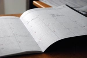 scheduling your working day efficiently in a notebook