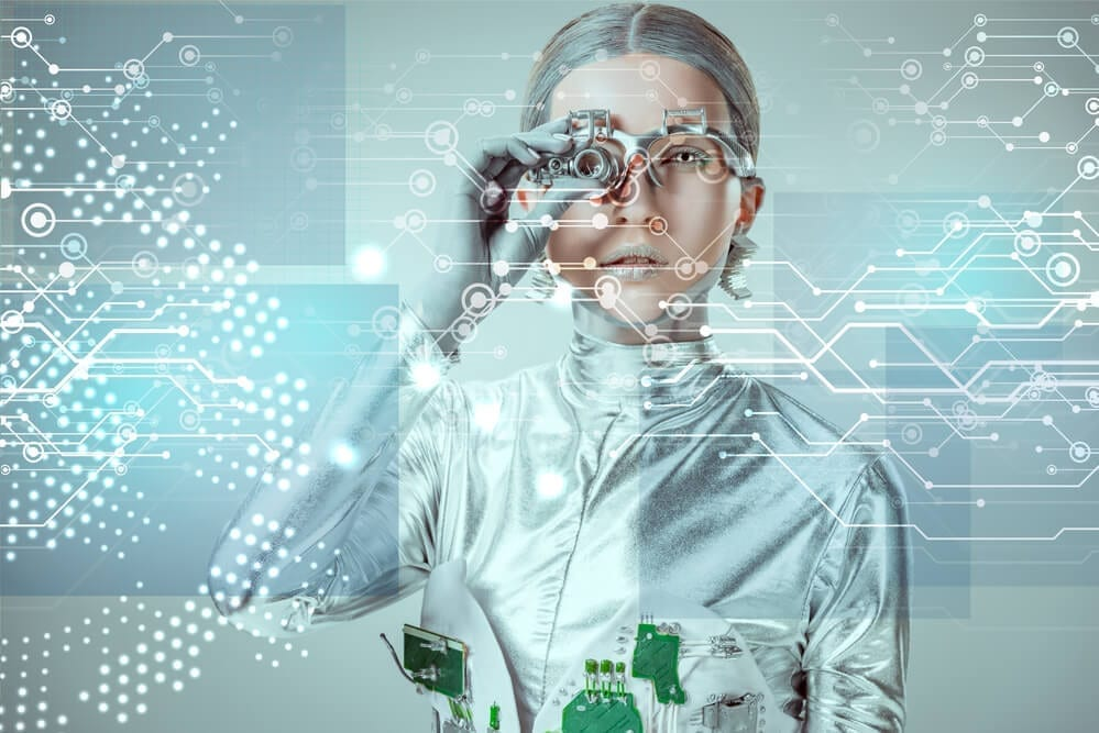 Robot analyzing data