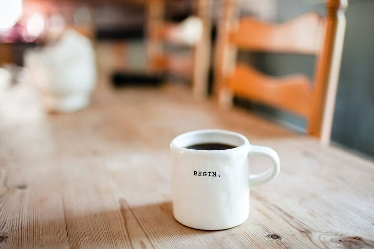 cup of coffee of a blogger