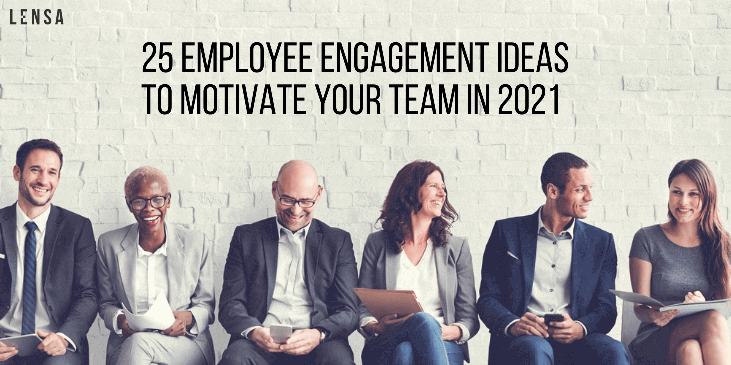 Employees brainstorming and discussing happily at work