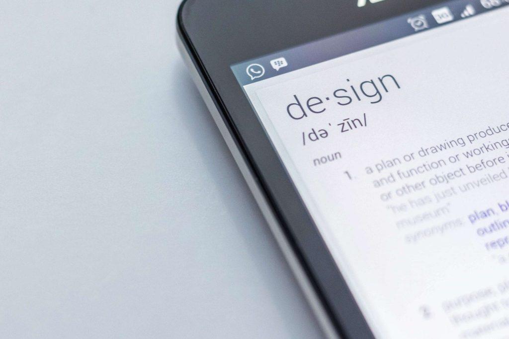 web design on a smartphone