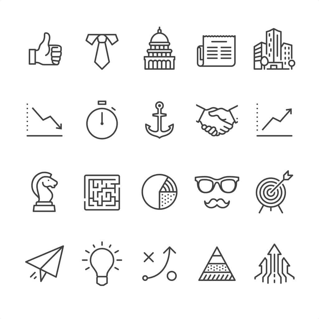 icons realted to jobs in Washington D.C.