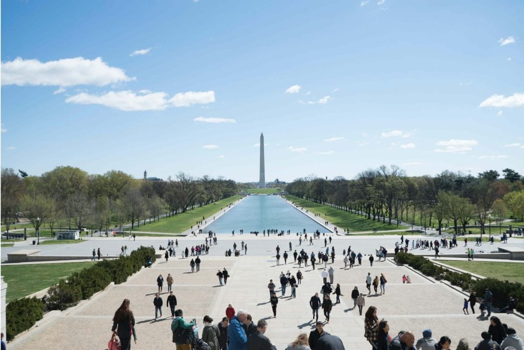 view on the washington monument