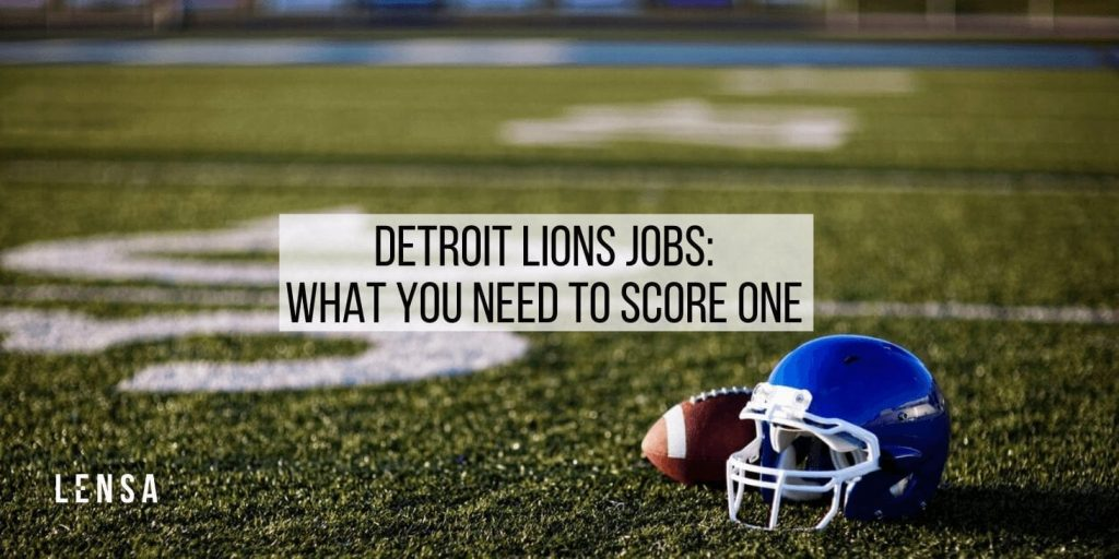 detroit lions football pitch and blue helmet