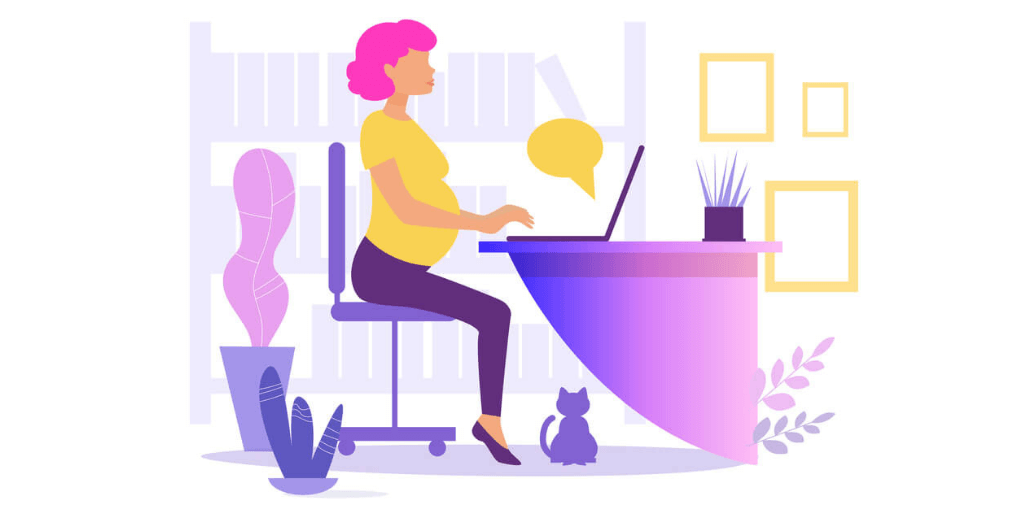 A pregnant lady looking for Work-From-Home Jobs for Pregnant Women