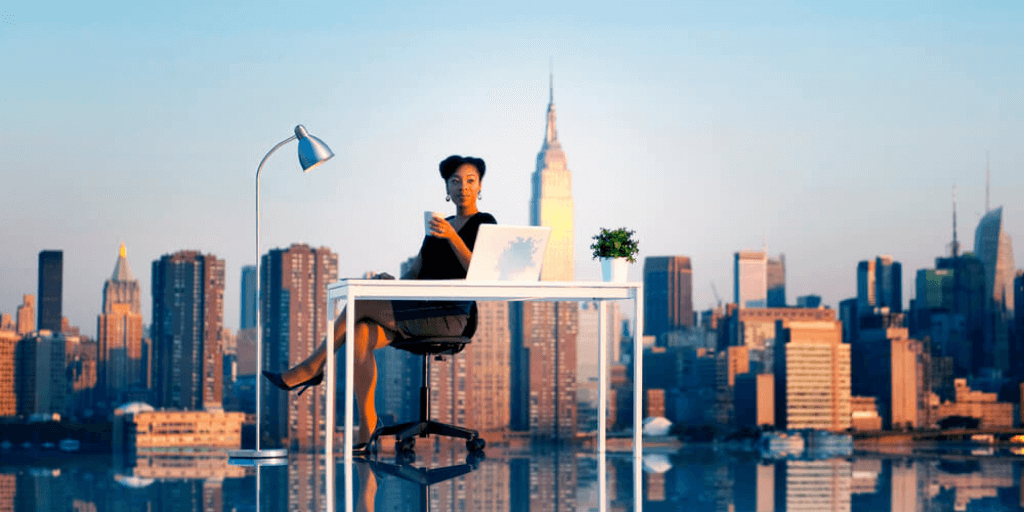 african-american woman living and working at one of the best companies in new york