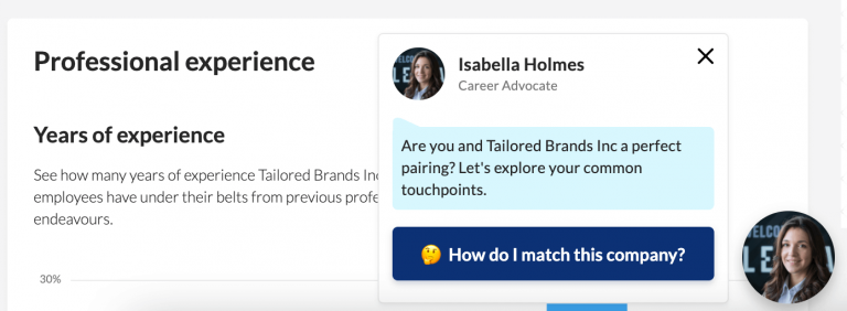 Lensa's workstyle game feature that helps with job search strategy.